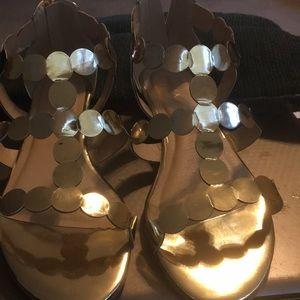 Gold size 11 wide Gladiator Sandals